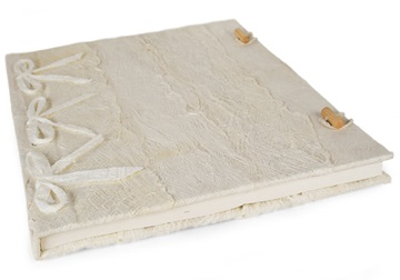 Picture of Bark Handmade A4 Journal White Plain