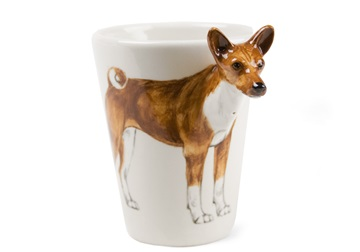 Picture of Basenji Handmade 8oz Coffee Mug Tan