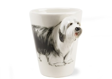 Picture of Bearded Collie Handmade 8oz Coffee Mug Grey
