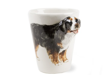 Picture of Bernese Mountain Dog Handmade 8oz Coffee Mug Black Tricolor