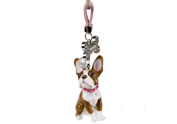 Picture of Boston Terrier Handmade Mini Key Ring Brindle