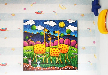 Picture of Cool Art ''giraffiti'' Extra Large Painting Amber