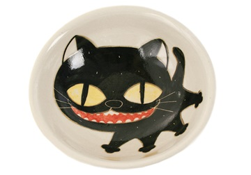 Picture of Coraline Handmade Ceramic Cereal Medium Bowl Black