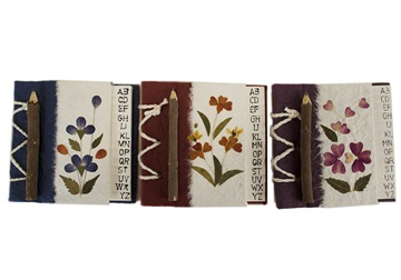Picture of Floral Petal Handmade Hand Bound Mini Stocking filler Red Flower
