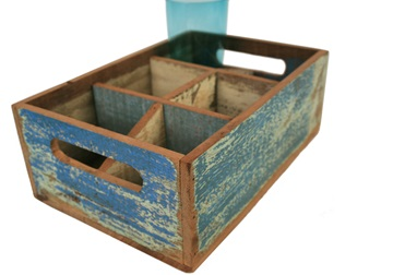 Picture of Rustic Beach Handmade Reclaimed Six Compartments Crates Antique Pastel