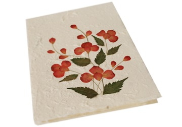 Picture of Scrappy Do Handmade Flower Design Large Card Red Petal