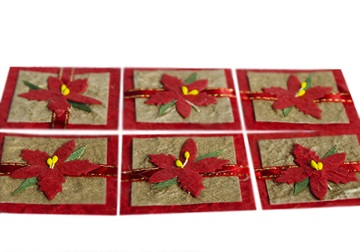 Picture of Scrappy Do Maple Small Embellishment Red