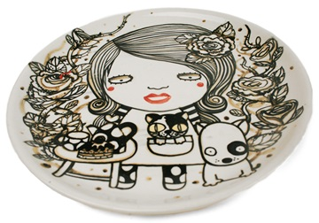 Picture of Shojo Handmade Ceramic Dinner Plate Monochrome