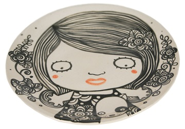 Picture of Shojo Handmade Ceramic Side Plate Monochrome
