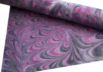 Picture of Tie dye Print Poster Handmade Paper Purple