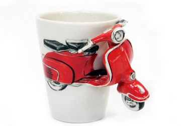 Picture of Vespa Handmade 8oz Coffee Mug Red