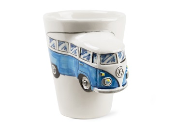 Picture of Camper Van Handmade 8oz Coffee Mug Blue