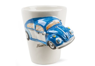 Picture of Beetle Handmade 8oz Coffee Mug Blue