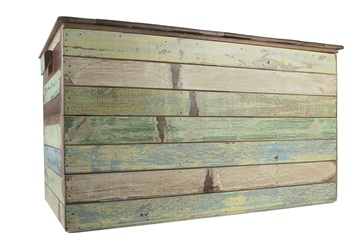 Picture of Rustic Beach Handmade Reclaimed Extra Large Storage Box Antique Pastel